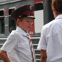 Учащиеся Нижегородской Детской Железной Дороги