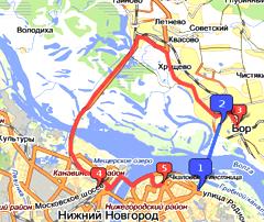 Автомобильная и канатная дорога между Нижним Новгородом и Бором